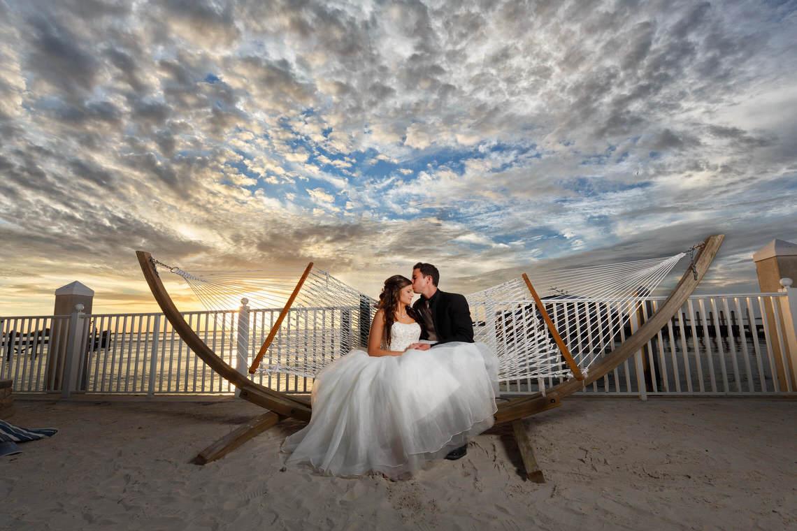 sunset naples wedding photographer
